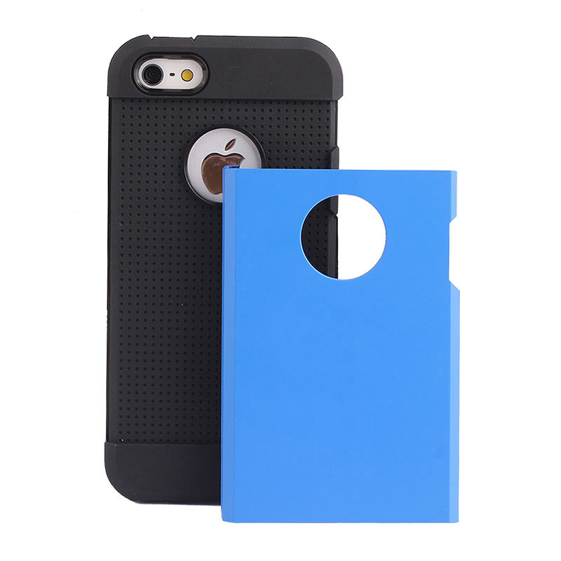 2-in-1 Armour Case Skin for iPhone 6 Plus 5.5 - Blue