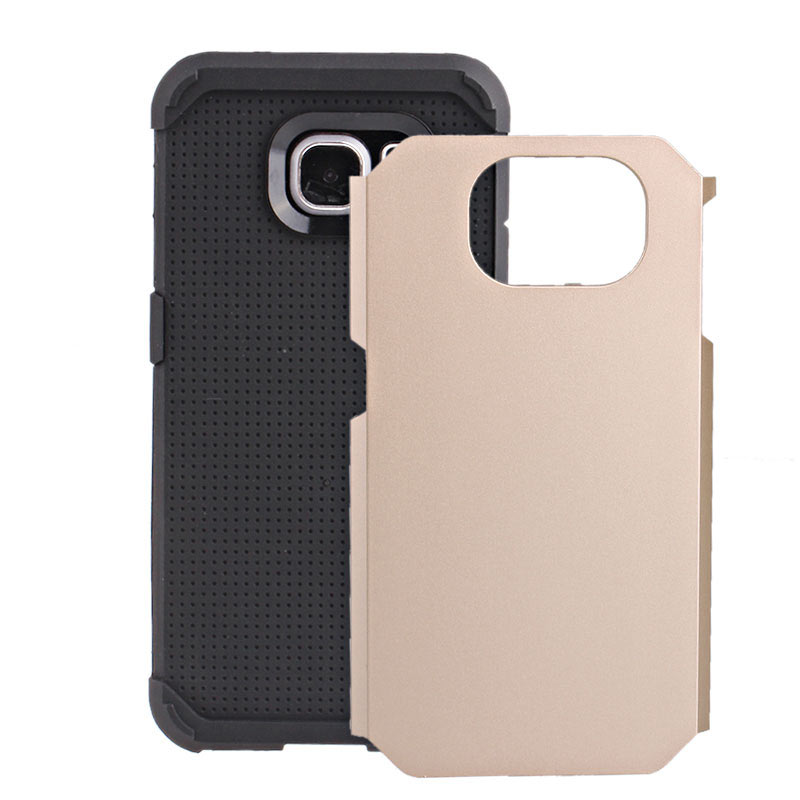 2-in-1 Armour Case Skin for Samsung Galaxy S6 - Gold