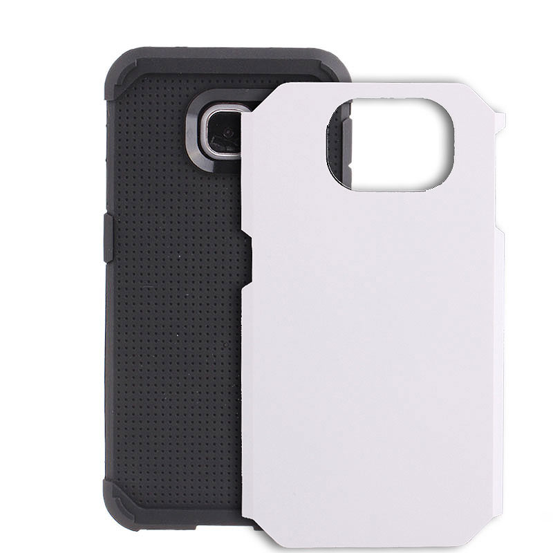 2-in-1 Armour Case Skin for Samsung Galaxy S6 - White