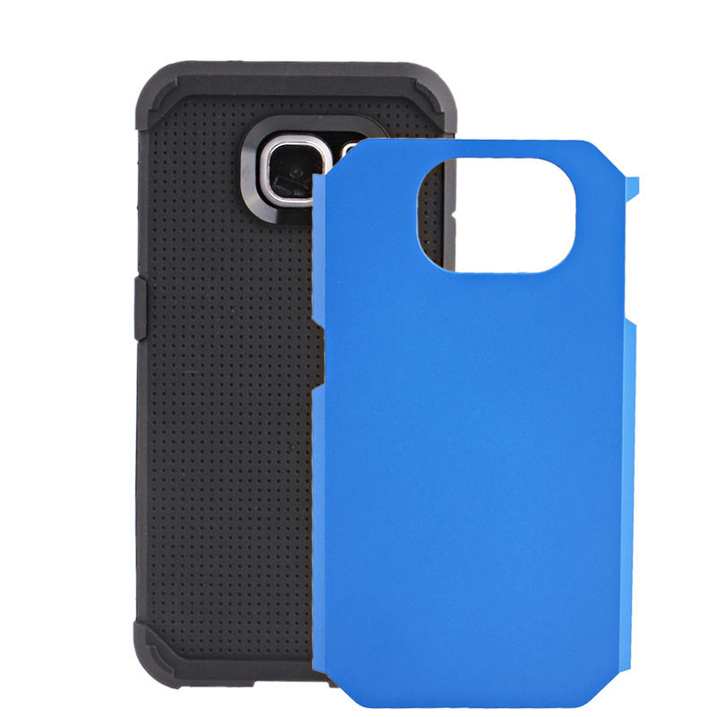 2-in-1 Armour Case Skin for Samsung Galaxy S6 - Blue