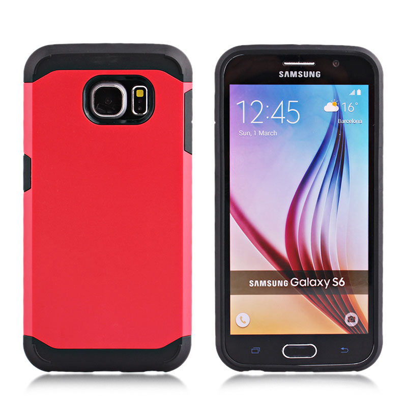 2-in-1 Armour Case Skin for Samsung Galaxy S6 - Red