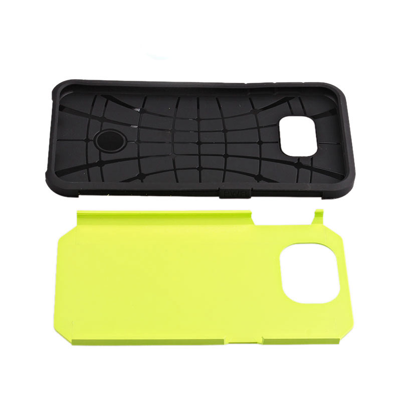2-in-1 Armour Case Skin for Samsung Galaxy S6 - Green