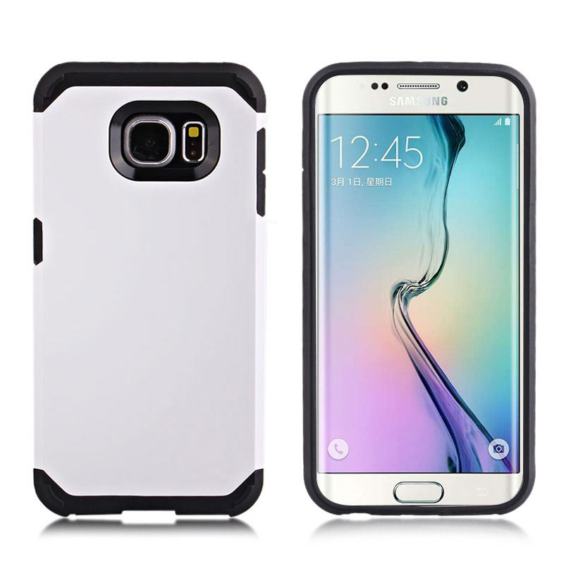 2-in-1 Armour Case Skin for Samsung Galaxy S6 Edge - White