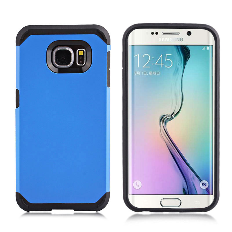 2-in-1 Armour Case Skin for Samsung Galaxy S6 Edge - Blue