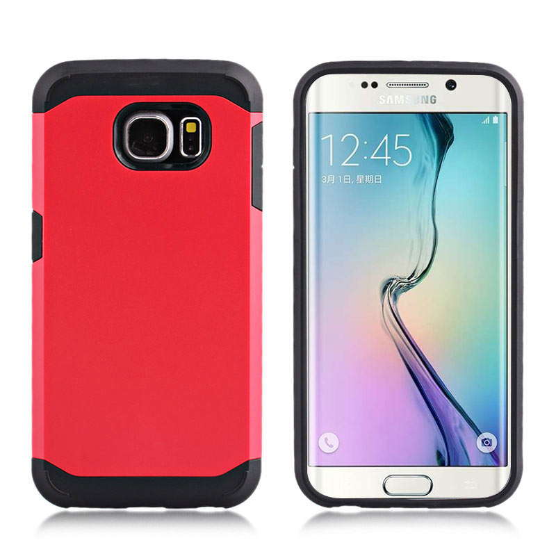 2-in-1 Armour Case Skin for Samsung Galaxy S6 Edge - Red