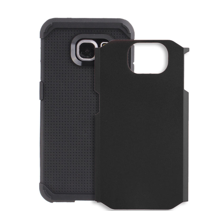 2-in-1 Armour Case Skin for Samsung Galaxy S6 Edge - Black
