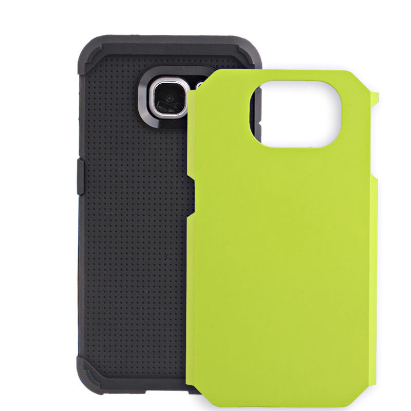 2-in-1 Armour Case Skin for Samsung Galaxy S6 Edge - Green