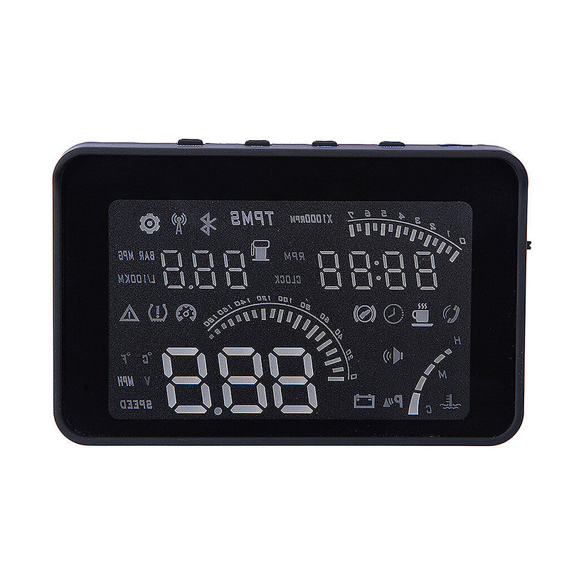 W03 4 Inch OBD II Car Head-up Display HUD with Speed/Speed Limit/Fuel Consumption