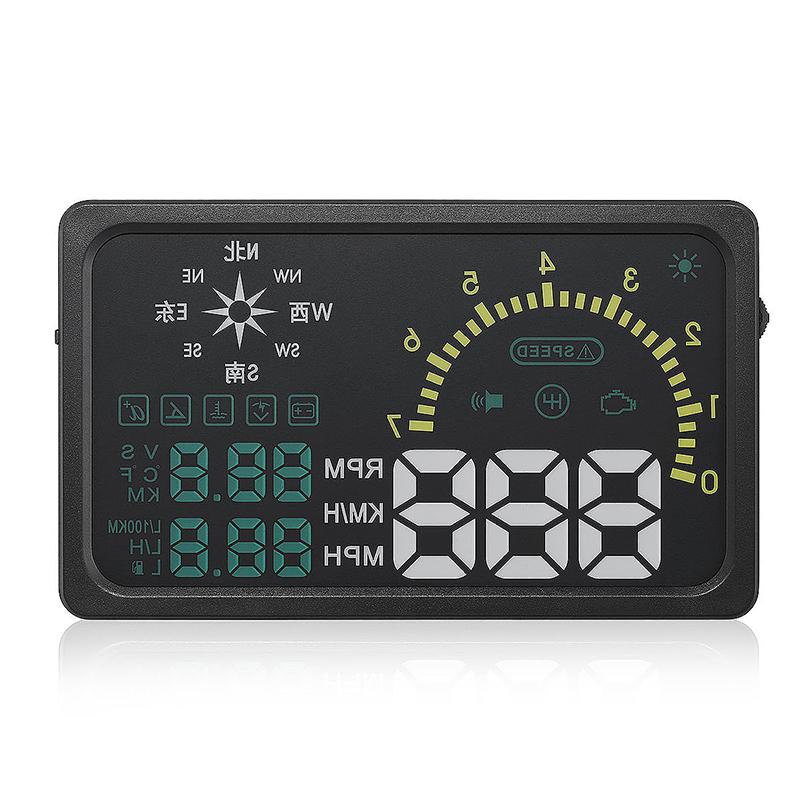 i6 6 Inch OBD II Car Head-up Display HUD with Speed/Speed Limit