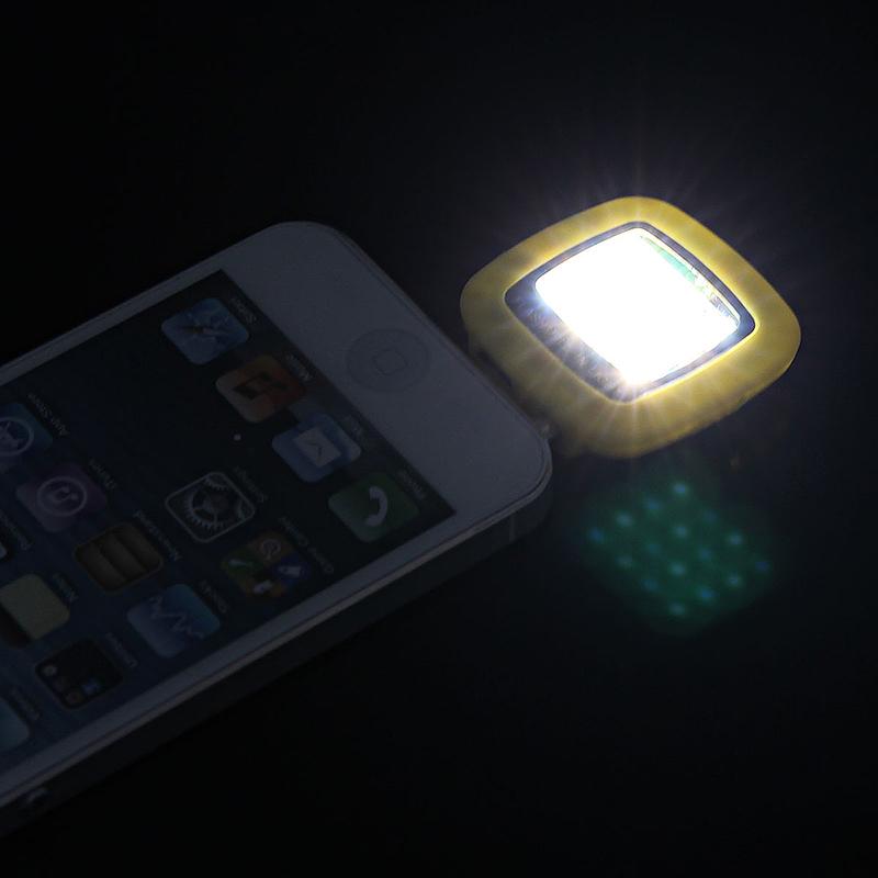 16 LED Flash Light-compensating Lamp for Smart Phones - Blue
