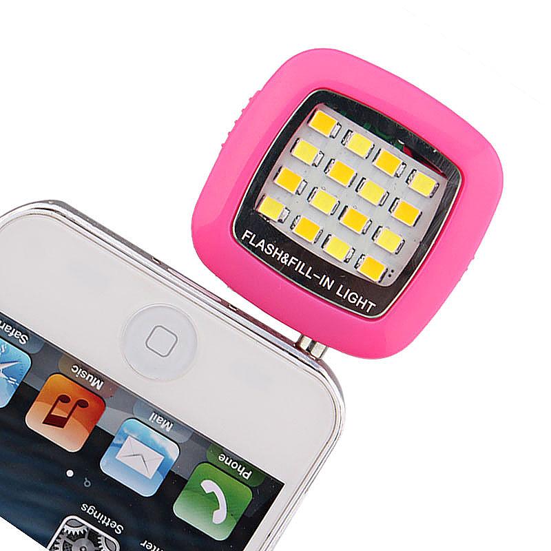 16 LED Flash Light-compensating Lamp for Smart Phones - Rose Red