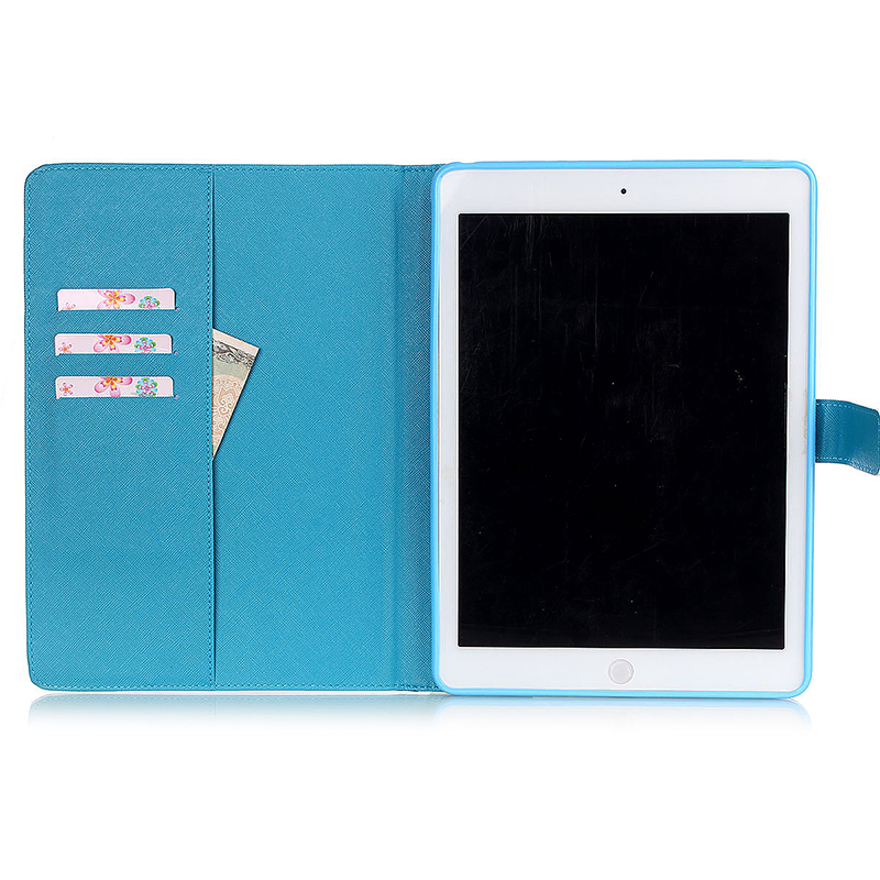 Dorky Dorable Faces Magnetic Stand Leather Case Cover for iPad 5/Air