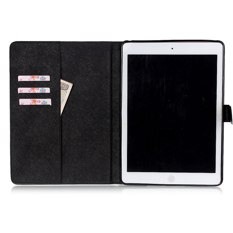 Anger Face Magnetic Stand Leather Case Cover for iPad 5/Air