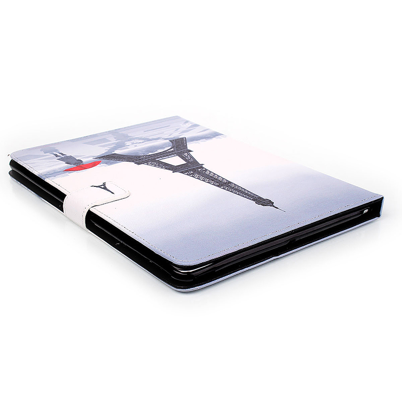 Eiffel Tower Magnetic Stand Leather Case Cover for iPad 5/Air