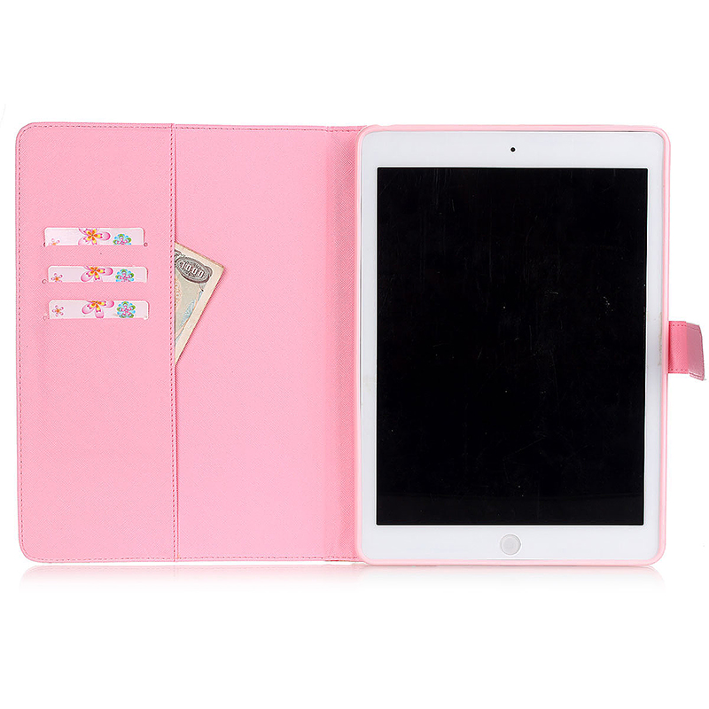 Smile & Flower Magnetic Stand Leather Case Cover for iPad 5/Air