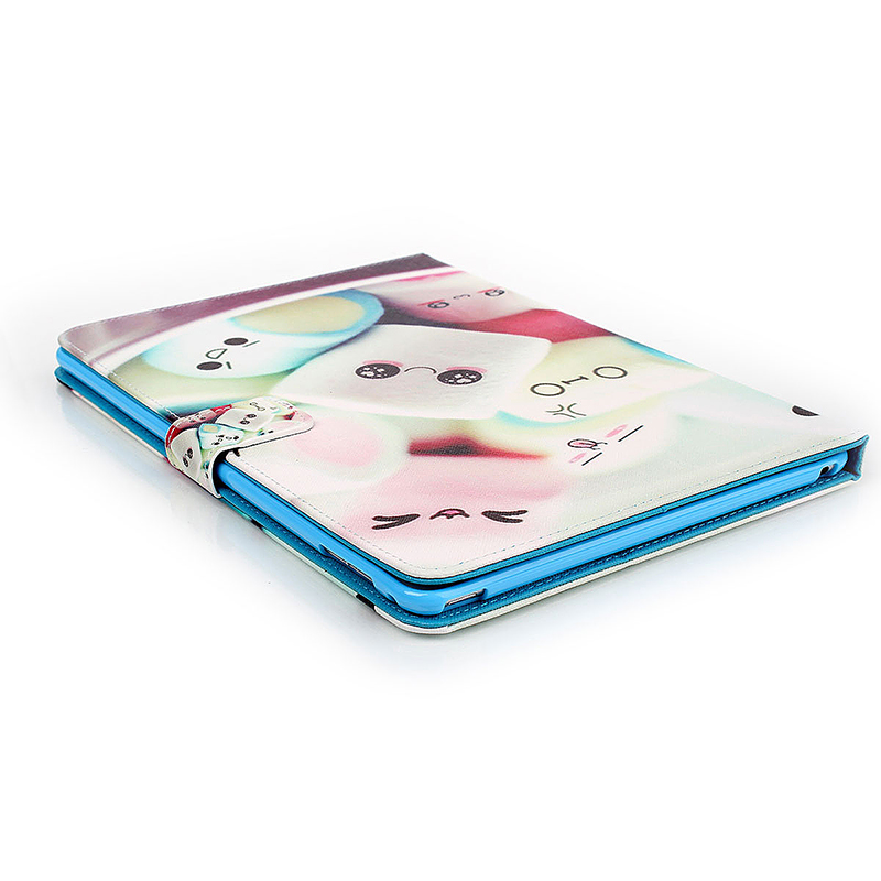 Dorky Dorable Faces Magnetic Stand Leather Case Cover for iPad 6