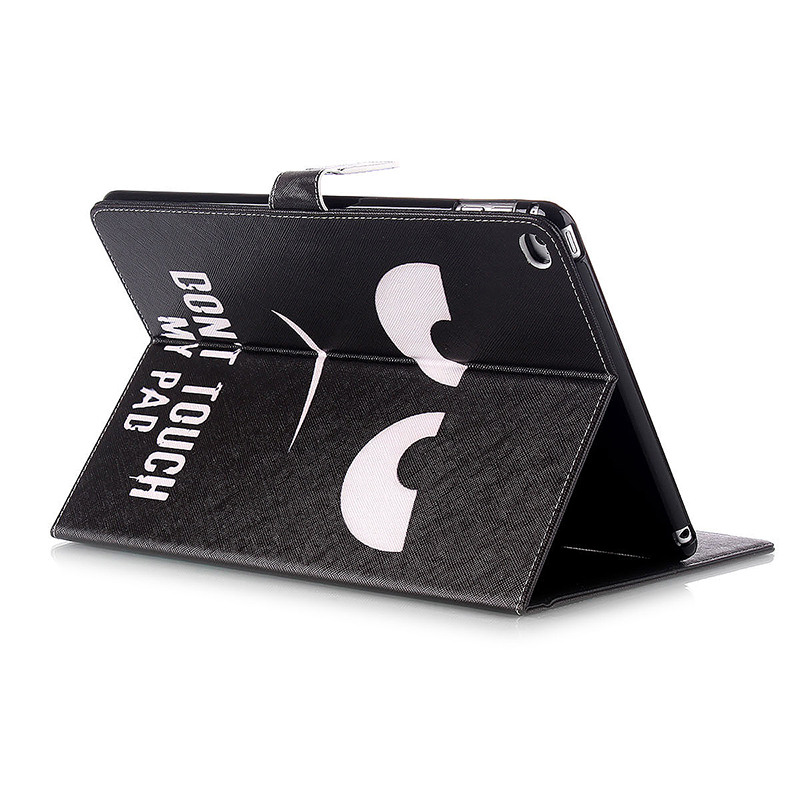 Anger Face Magnetic Stand Leather Case Cover for iPad 6
