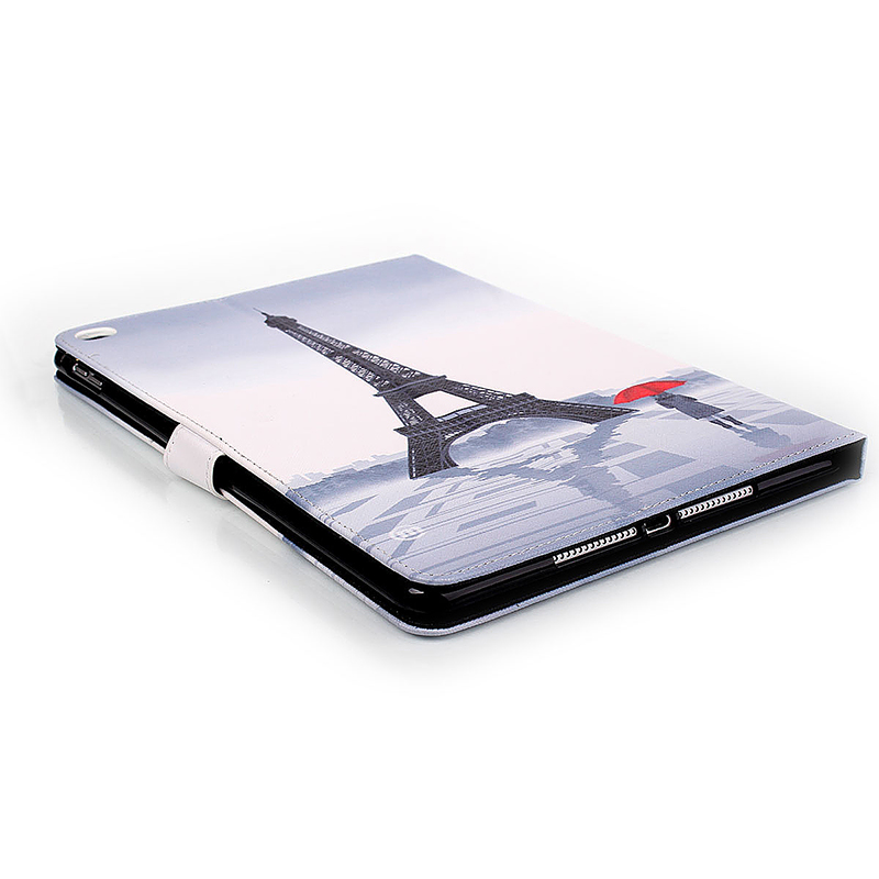 Eiffel Tower Magnetic Stand Leather Case Cover for iPad 6