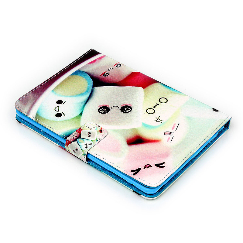 Dorky Dorable Faces Magnetic Stand Leather Case Cover for iPad Mini 1/2/3