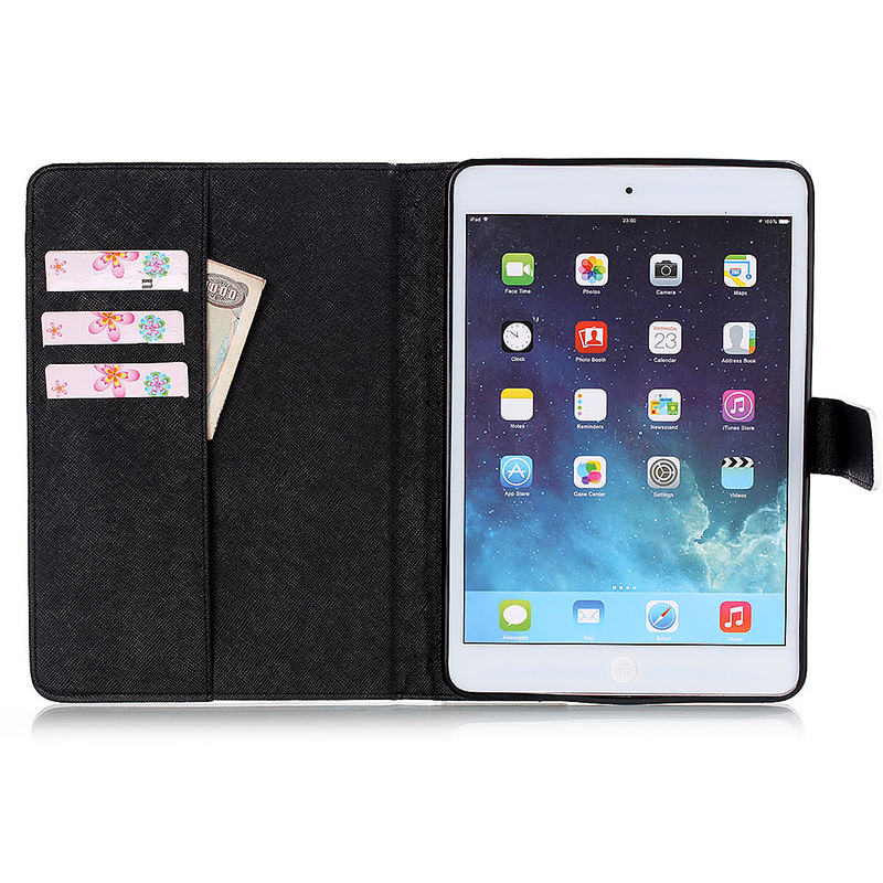 Eiffel Tower Magnetic Stand Leather Case Cover for iPad Mini 1/2/3