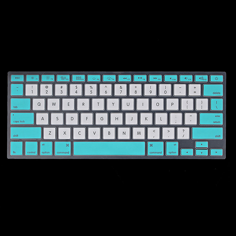 Ultra Thin TPU Silicone Keyboard Cover Protective Skin for MacBook - Blue