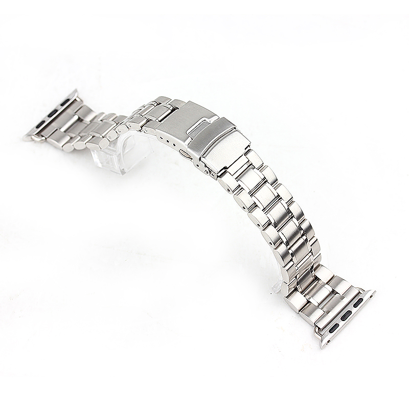 Stainless Steel Strap Classic Buckle Watch Bands for Apple Watch 38mm - Silver