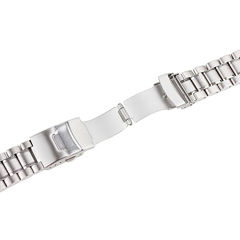 Stainless Steel Strap Classic Buckle Watch Bands for Apple Watch 42mm - Silver