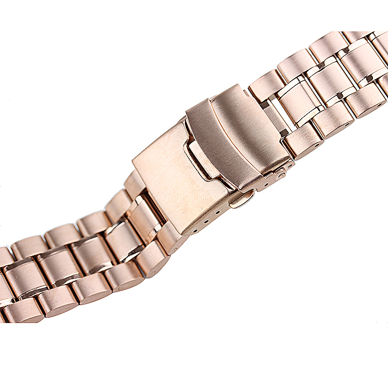 Stainless Steel Strap Watch Bands Belt for Apple Watch 38mm - Rose Gold