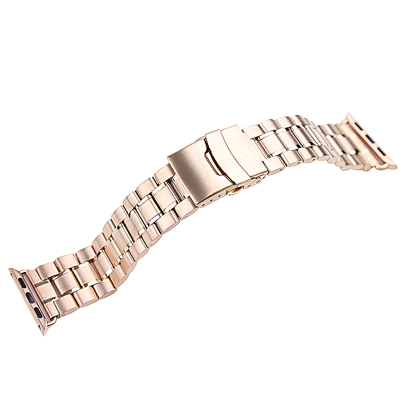 Stainless Steel Strap Watch Bands Belt for Apple Watch 42mm - Rose Gold