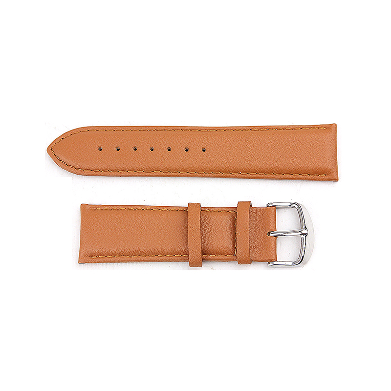 Soft Genuine Leather Buckle Watchband Straps Band for Apple Watch 42mm - Yellow