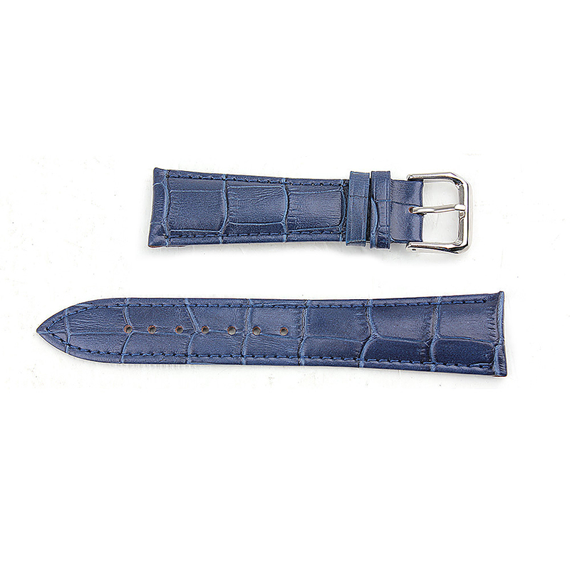 Alligator Pattern Genuine Leather Watchband Straps Band for Apple Watch 38mm - Blue