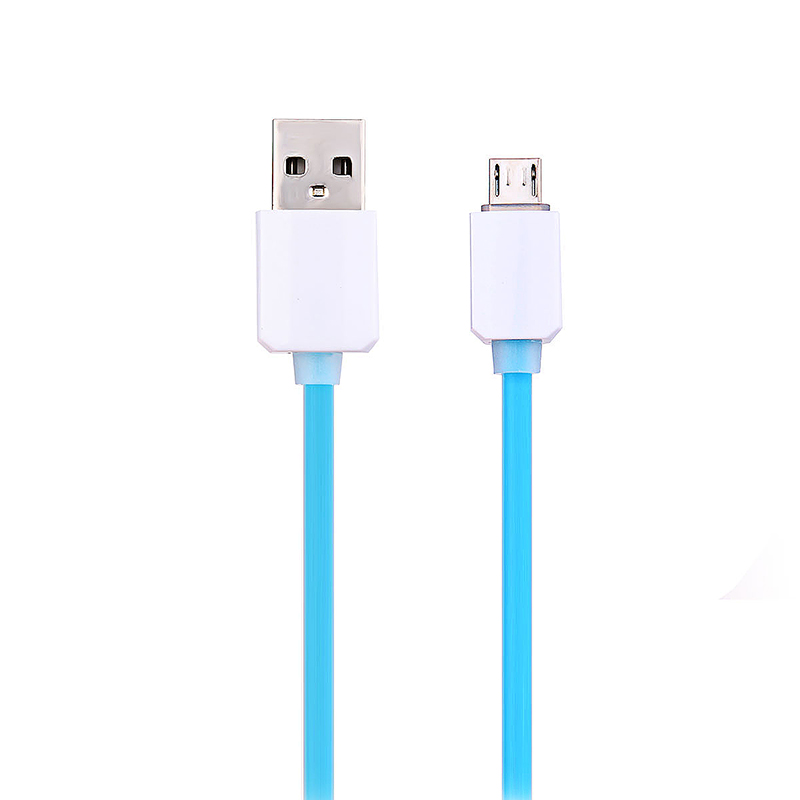 1m Micro USB Smart Data & Charging Cable for Samsung LG HTC - Blue