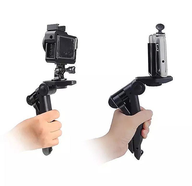 Tripod Pistol Grip Stand Mount Adapter for Sport Camera GoPro HD HERO - Yellow