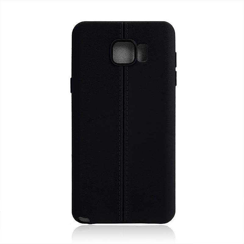 Middle Line Design TPU Soft Case Skin for Samsung Note 5 - Black
