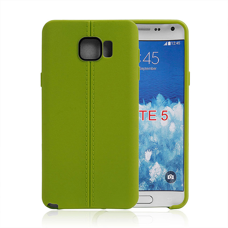 Middle Line Design TPU Soft Case Skin for Samsung Note 5 - Green