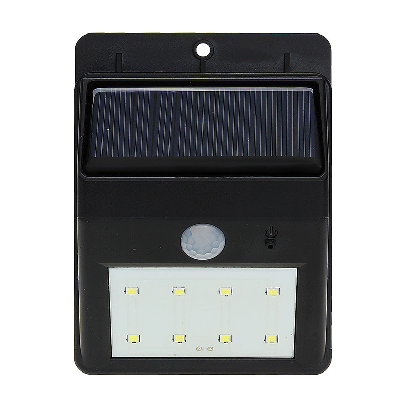 Solar 8 LED PIR Motion Sensor Garden/ Flood/ Entrance Outdoor Wall Light