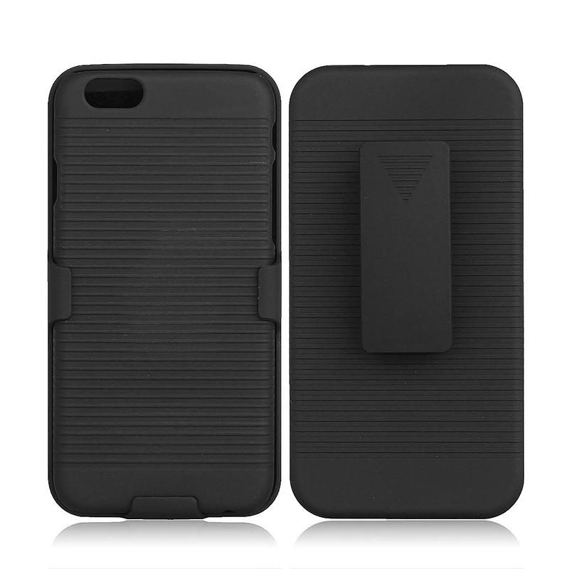 Shockproof Fall Preventing Protective Case Cover with Clip Stand Holder for iPhone 6 4.7 - Black