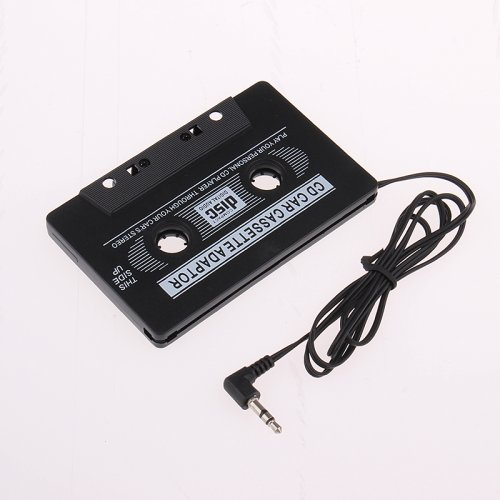 Car Cassette Tape Adapter Black 3.5mm Jack for MP3 iPod iPhone CD Stereo