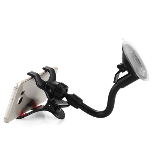 360 Degree Rotation Windscreen Soft Tub Car Holder Phone GPS Mount Clip with Suction