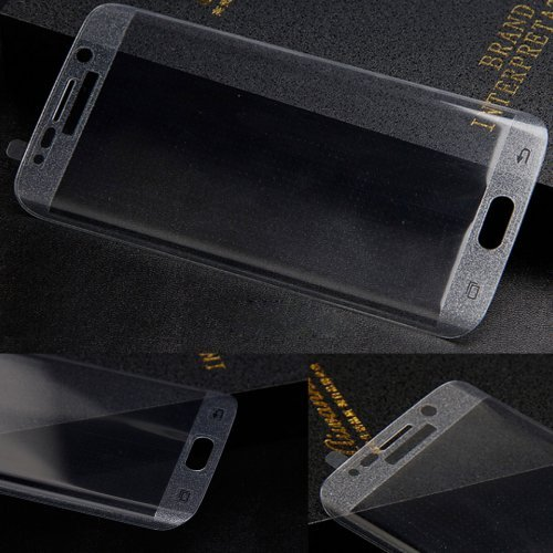 3D Curved Full Cover Tempered Glass Screen Protector for Samsung Galaxy S7 Edge - Transparent