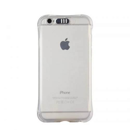 LED Flash Light Reminder Incoming Call Shockproof TPU Back Cover Case for iPhone 6 6S - Transparent