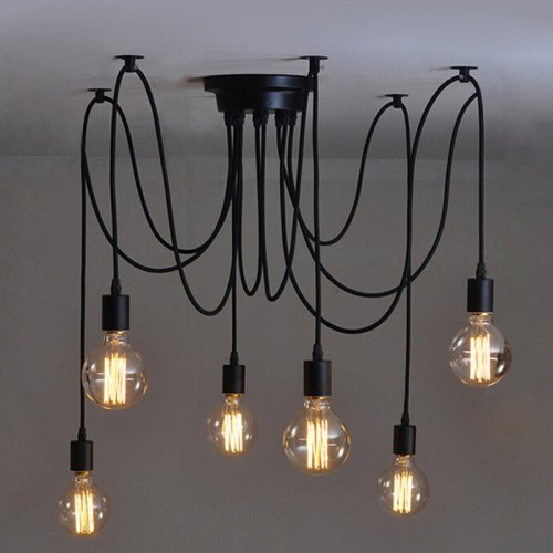 Vintage Edison Industrial Steampunk Loft Chandelier Ceiling Pendant Light Lamp 10 Heads 1.5M