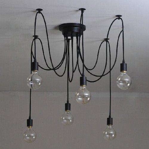 Vintage Edison Industrial Steampunk Loft Chandelier Ceiling Pendant Light Lamp 12 Heads 2M