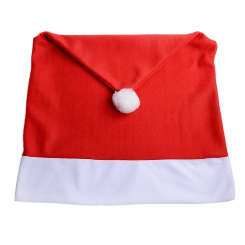 Christmas Chair Back Cover Red Santa Hat Dinner Table Decoration Party