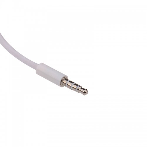 3.5mm Male AUX Audio Plug Jack to USB 2.0 Female Converter Cable White