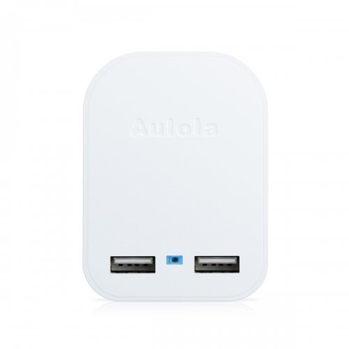 Aulola Patent TC229 Dual USB Foldable Flex Charger Adapter UK Plug 5V/2A White