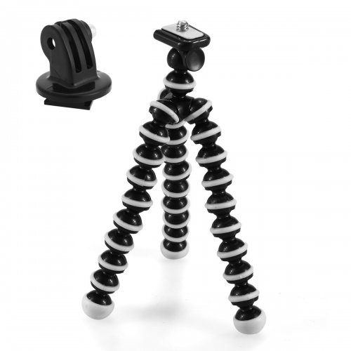 Gopro Flexible Mini Octopus Stand Bracket Holder Tripod - Black