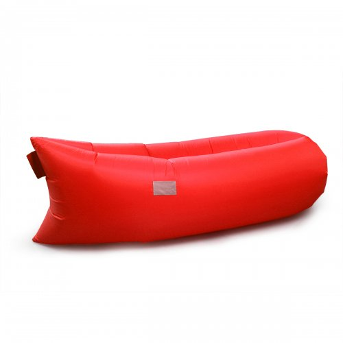 Outdoor Foldable Fast inflatable Air Sleeping Bag Sofa Couch Bed - Bright Red