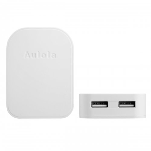 TH31 Foldable Dual USB Port UK Charger Adaptor- White