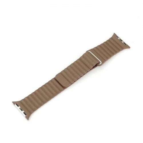 38mm Leather Loop Strap Watchband for Apple Watch iWatch - Brown